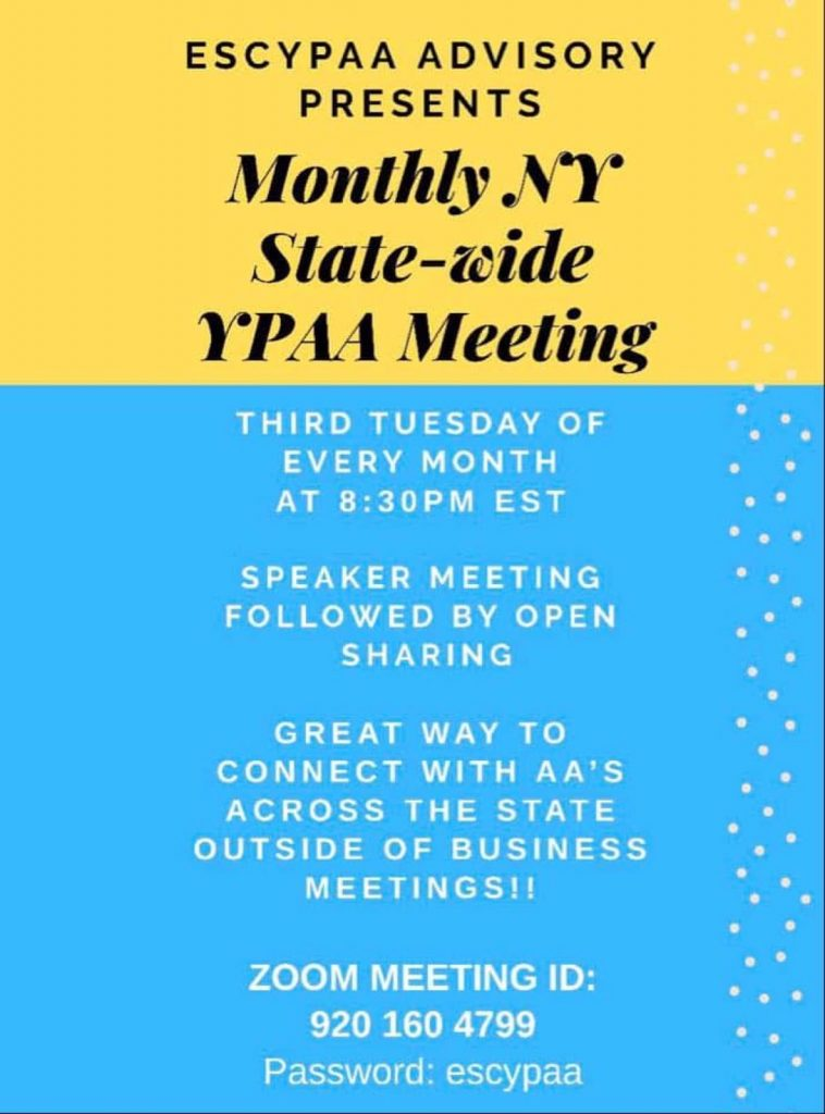Monthly NY State-Wide YPAA Meeting jpeg
