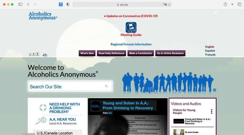 aa.org homepage jpeg